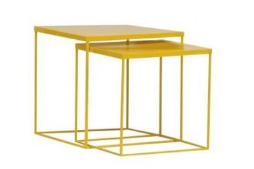 Beistelltisch metall gelb  Deal Sonderposten - Beistelltisch 2er-Set Metall